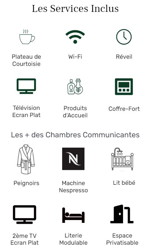 Services Logo chambres communicantes - Hôtel star Champs-Elysées