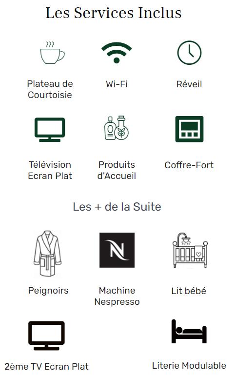 Services Logo suite - Hôtel Star Champs-Elysées