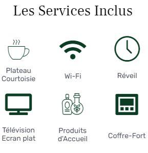 services inclus chambre classique hotel star champs elysées