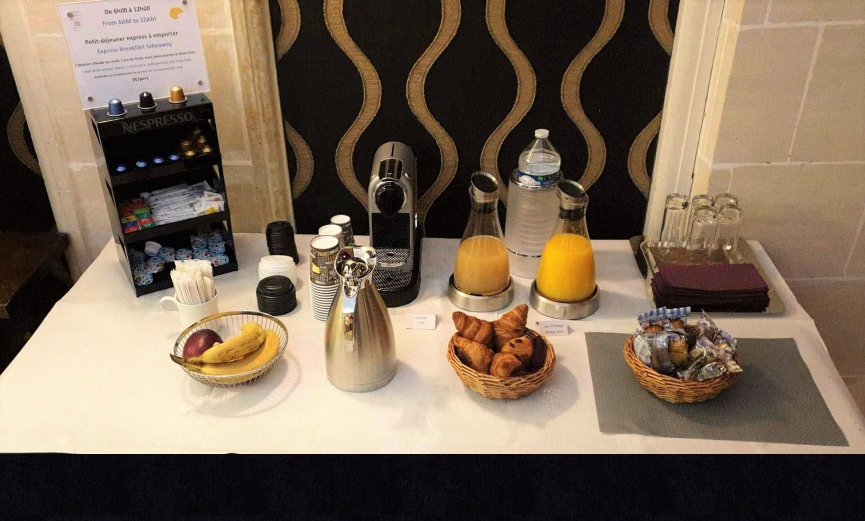 Petit-déjeuner express - Hôtel Star Champs Élysées