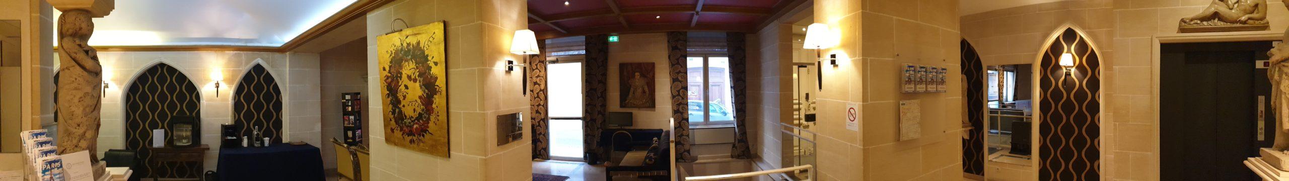 lobby en panorama - hôtel star champs-élysées bis