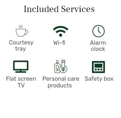 services included - single - hôtel star champs-élysées