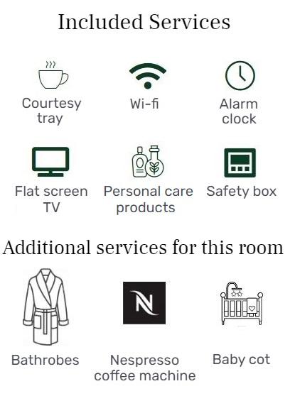 services inclus - double supérieure - hôtel star champs élysées